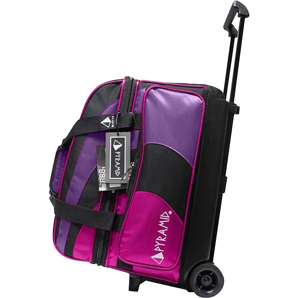 Pyramid Path Double Roller Bowling Bag Hot Pink Purple Pyramid Bowling Bags