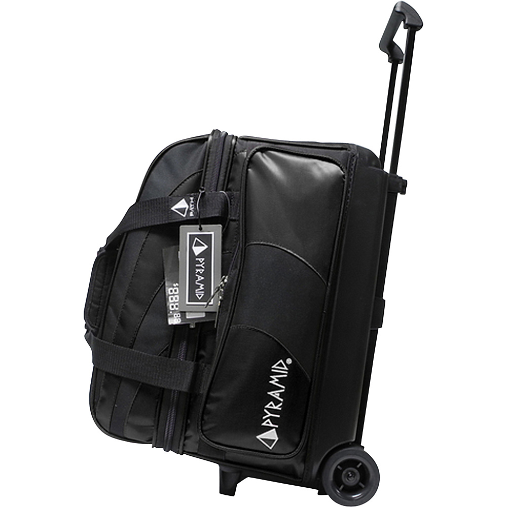 Pyramid Path Double Roller Bowling Bag Black Pyramid Bowling Bags