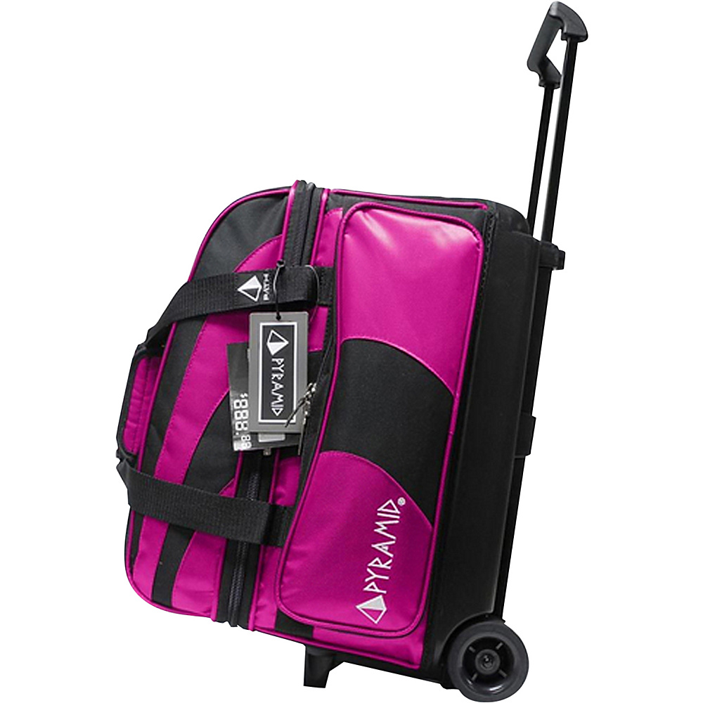 Pyramid Path Double Roller Bowling Bag Hot Pink Pyramid Bowling Bags