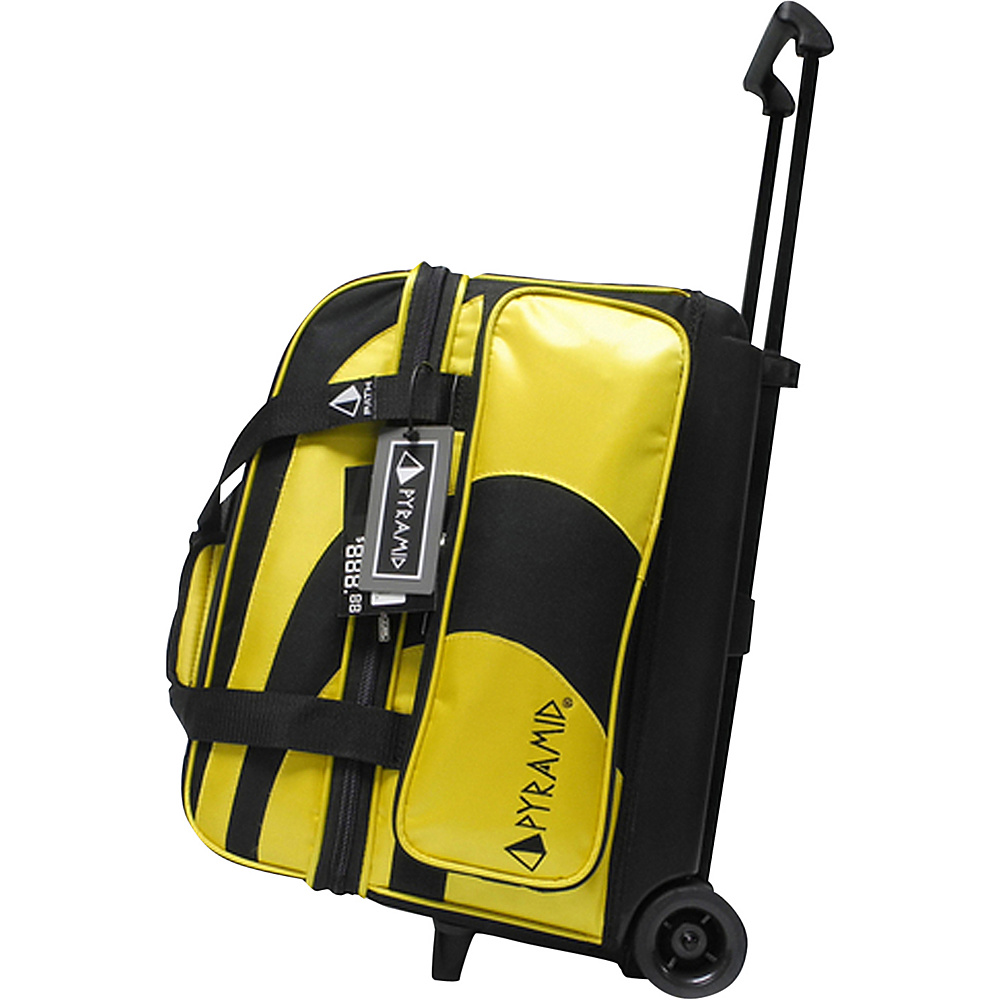 Pyramid Path Double Roller Bowling Bag Yellow Pyramid Bowling Bags