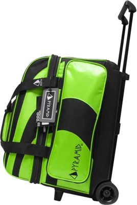 Pyramid Path Double Roller Bowling Bag Lime Green - Pyramid Bowling Bags