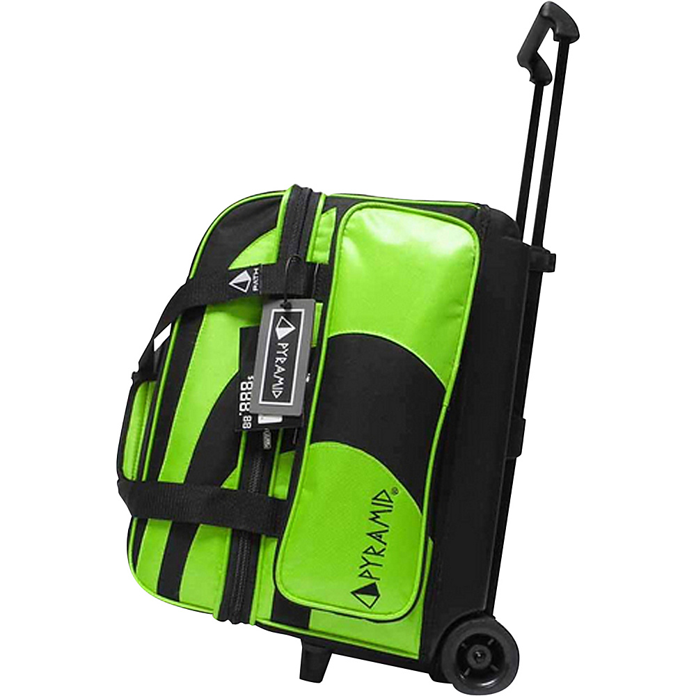Pyramid Path Double Roller Bowling Bag Lime Green Pyramid Bowling Bags