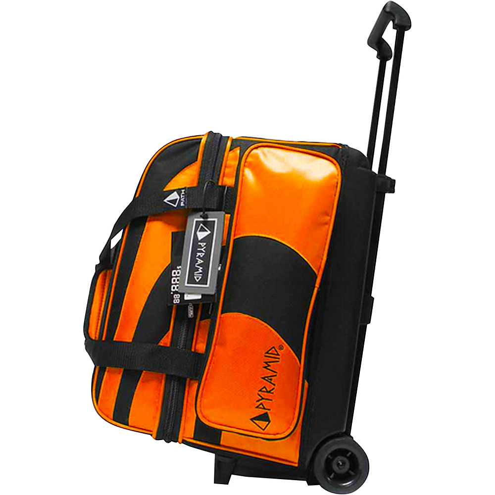 Pyramid Path Double Roller Bowling Bag Orange Pyramid Bowling Bags