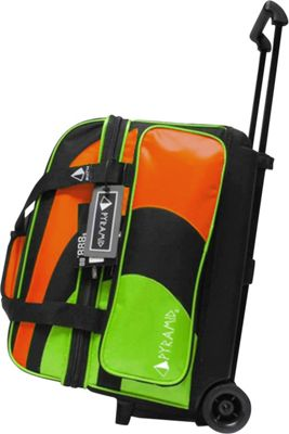 Pyramid Path Double Roller Bowling Bag Lime Green/Orange - Pyramid Bowling Bags