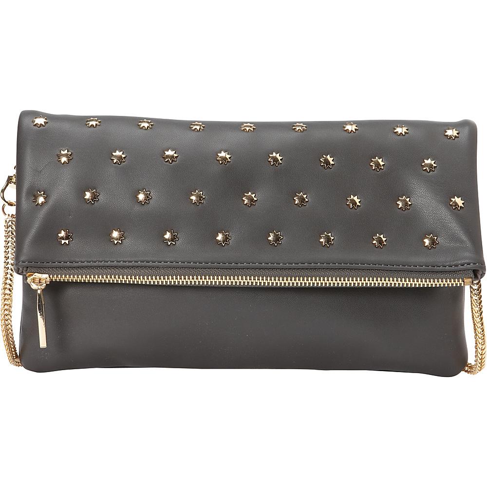 deux lux Etoile Clutch Charcoal deux lux Manmade Handbags