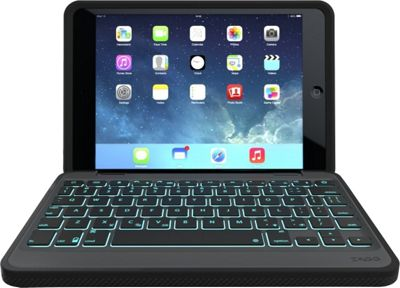 Zagg Rugged Durable Hinged Keyboard Case for iPad Mini/Mini Retina Black - Zagg Electronic Cases