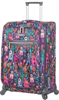 Lily Bloom Wild Woods 20 inch Exp Spinner WildWoods - Lily Bloom Softside Carry-On