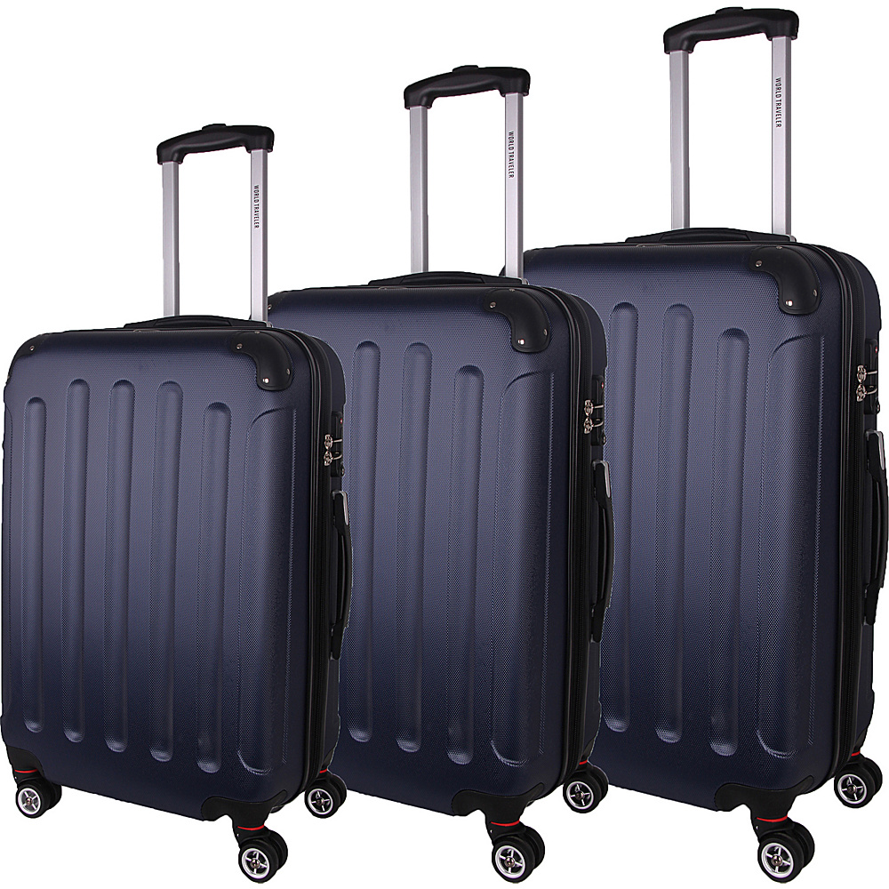 World Traveler Milan 3-Piece Hardside Spinner Luggage Set Blue - World Traveler Luggage Sets - Luggage, Luggage Sets