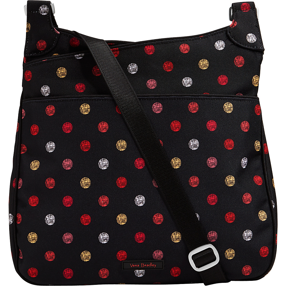 Vera Bradley Lighten Up Slim Crossbody Havana Dots - Vera Bradley Fabric Handbags - Handbags, Fabric Handbags