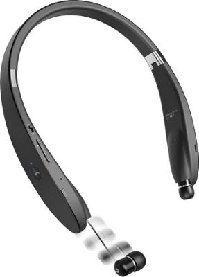 LifeCHARGE B609 Retractable Ear buds + Folding Necklace Bluetooth Black - LifeCHARGE Headphones & Speakers
