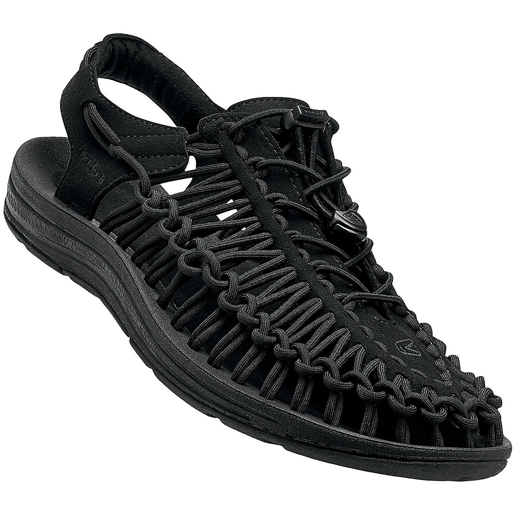KEEN Mens UNEEK Round Cord Sandal 13 - Black/Black - KEEN Mens Footwear - Apparel & Footwear, Men's Footwear