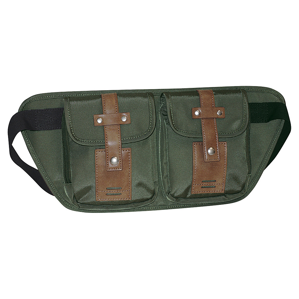 Buxton Expedition II Trekker Belt Bag Olive - Buxton Waist Packs - Backpacks, Waist Packs