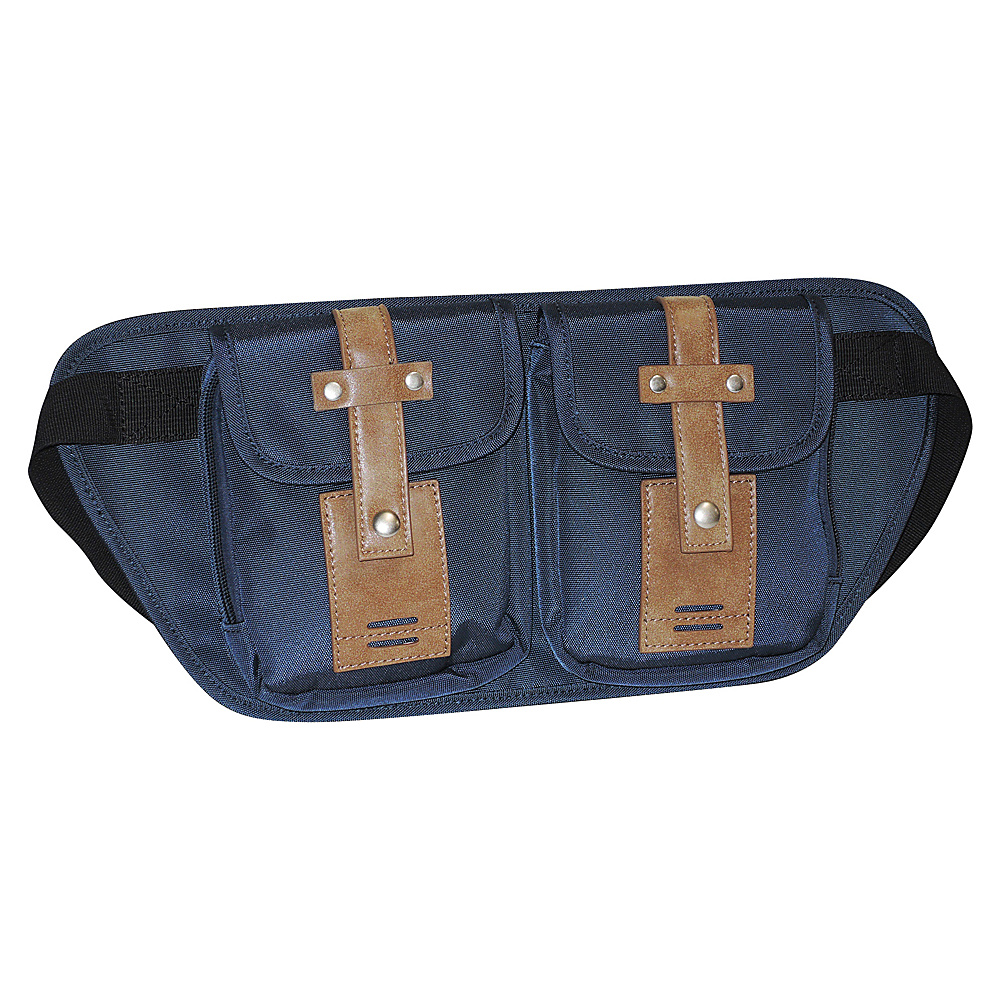 Buxton Expedition II Trekker Belt Bag Navy - Buxton Waist Packs - Backpacks, Waist Packs