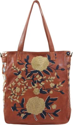 Old Trend El Cosmica Tote Camel - Old Trend Leather Handbags