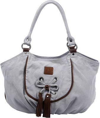 TSD Bold Lotus Hobo Grey - TSD Fabric Handbags