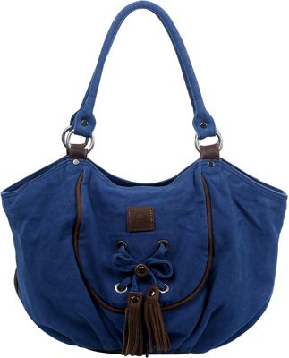 TSD Bold Lotus Hobo Navy - TSD Fabric Handbags