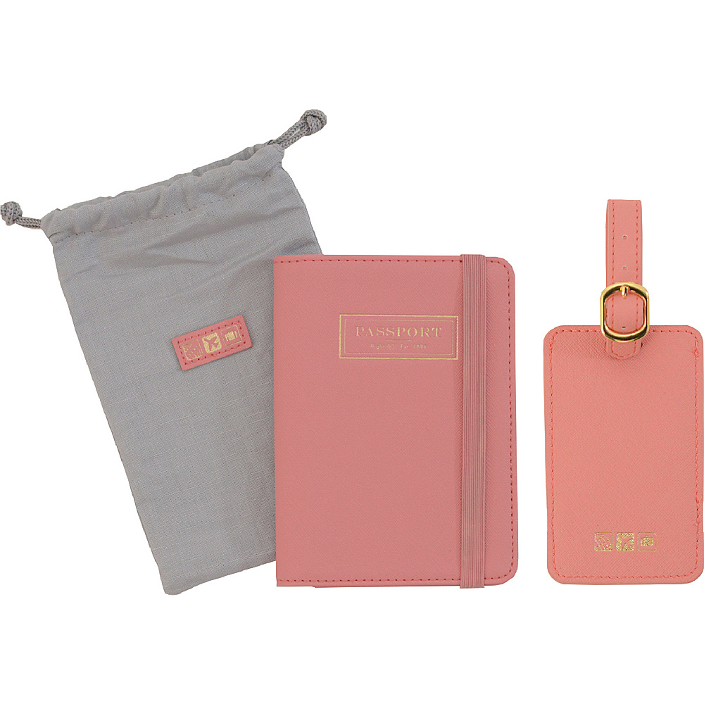 Flight 001 Correspondent Passport Holder and Luggage Tag Set Rose Flight 001 Luggage Accessories