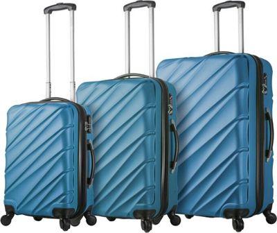 Mia Viaggi ITALY Lodi Hardside 3 Piece Spinner Set Blue - Mia Viaggi ITALY Luggage Sets