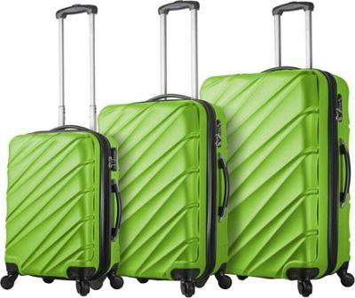 Mia Viaggi ITALY Lodi Hardside 3 Piece Spinner Set Green - Mia Viaggi ITALY Luggage Sets
