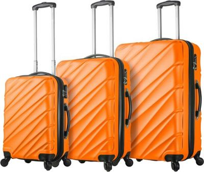 Mia Viaggi ITALY Lodi Hardside 3 Piece Spinner Set Orange - Mia Viaggi ITALY Luggage Sets