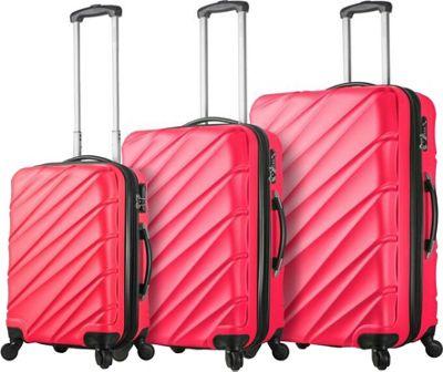 Mia Viaggi ITALY Lodi Hardside 3 Piece Spinner Set Pink - Mia Viaggi ITALY Luggage Sets