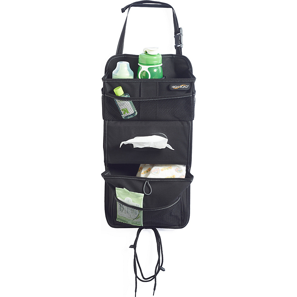 High Road TissuePockets Seatback Organizer Black Black High Road Trunk and Transport Organization
