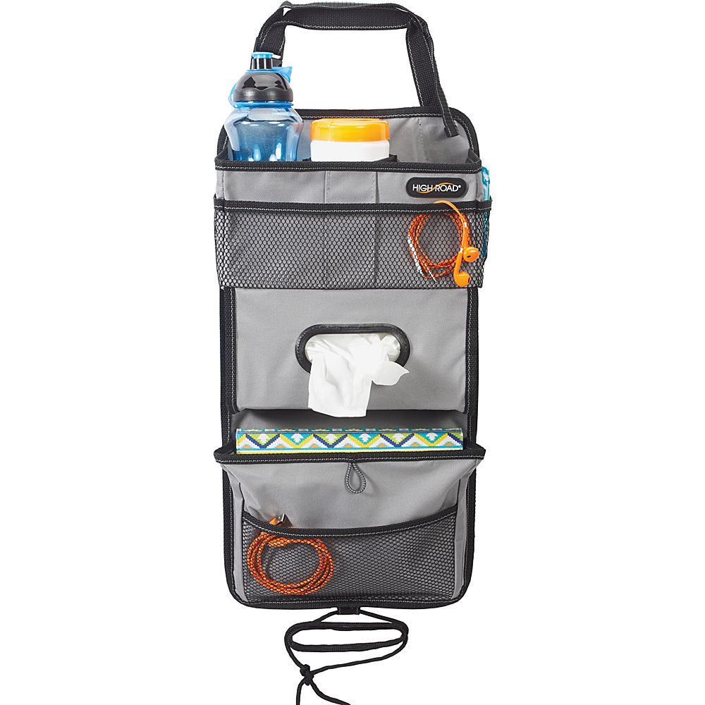 High Road TissuePockets Seatback Organizer Black Grey High Road Trunk and Transport Organization