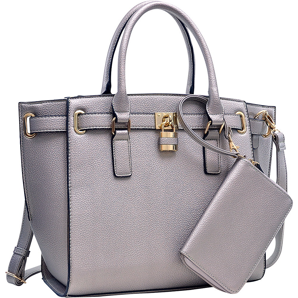 Dasein Belted Medium Tote Bag Pewter - Dasein Gym Bags - Sports, Gym Bags