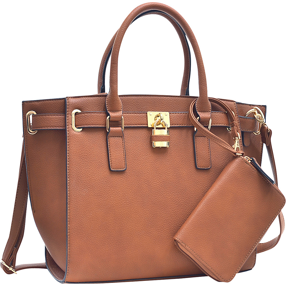 Dasein Belted Medium Tote Bag Brown - Dasein Gym Bags - Sports, Gym Bags