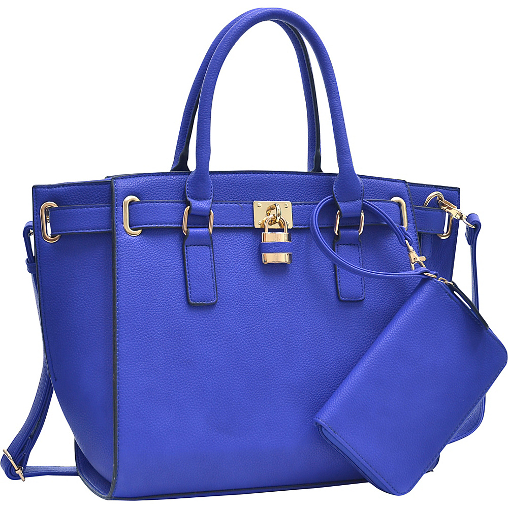 Dasein Belted Medium Tote Bag Royal Blue - Dasein Gym Bags - Sports, Gym Bags