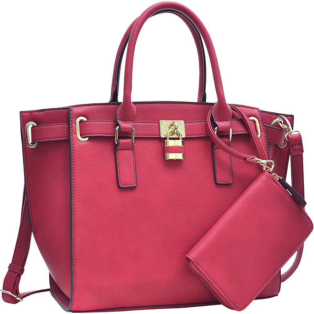 Dasein Belted Medium Tote Bag Red - Dasein Gym Bags - Sports, Gym Bags