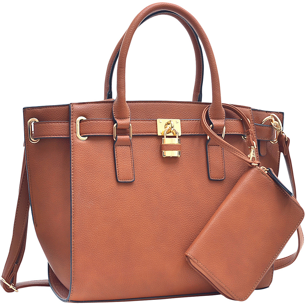 Dasein Belted Medium Tote Bag Cognac - Dasein Gym Bags - Sports, Gym Bags