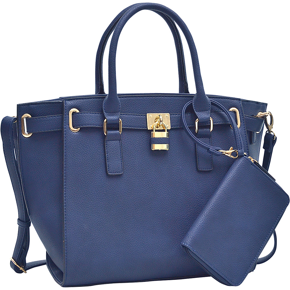 Dasein Belted Medium Tote Bag Navy Blue - Dasein Gym Bags - Sports, Gym Bags