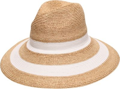 Gottex Newport Fedora Hat One Size - Natural/White - Gottex Hats/Gloves/Scarves