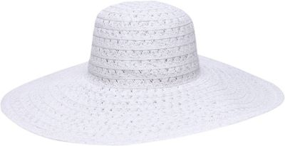 Ale by Alessandra Chantilly Floppy Hat One Size - White - Ale by Alessandra Hats/Gloves/Scarves