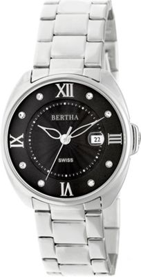 Image of Bertha Watches Amelia Stainless Steel Ladies Watch Silver - Bertha Watches Watches