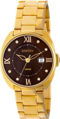 Image of Bertha Watches Amelia Stainless Steel Ladies Watch Gold - Bertha Watches Watches