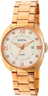 Image of Bertha Watches Amelia Stainless Steel Ladies Watch Rose Gold - Bertha Watches Watches
