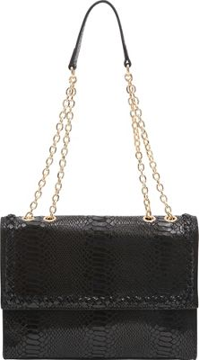 BUCO BUCO Iguana Shoulder Bag Black - BUCO Leather Handbags