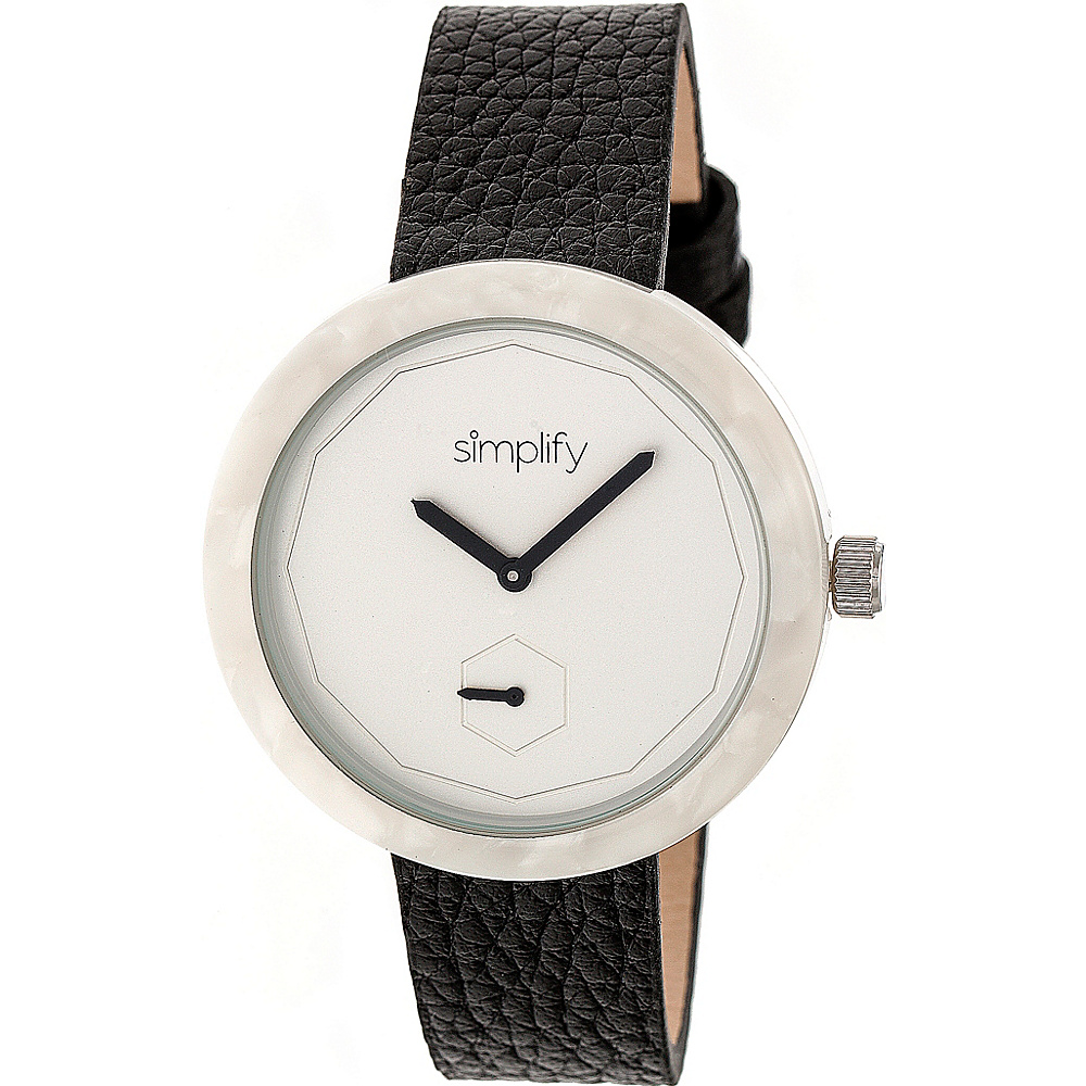 Simplify The 3700 Unisex Watch Black White Silver Simplify Watches