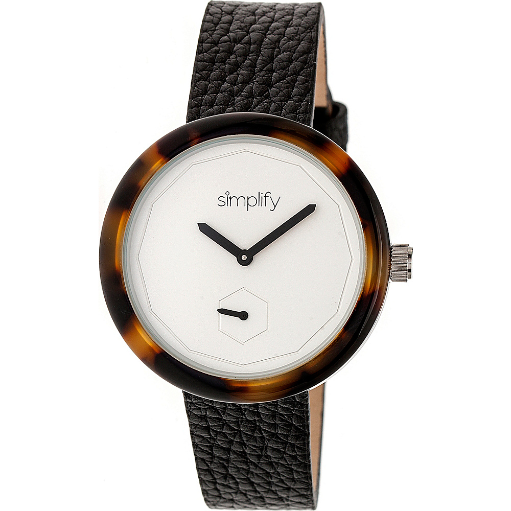 Simplify The 3700 Unisex Watch Black Brown Silver Simplify Watches
