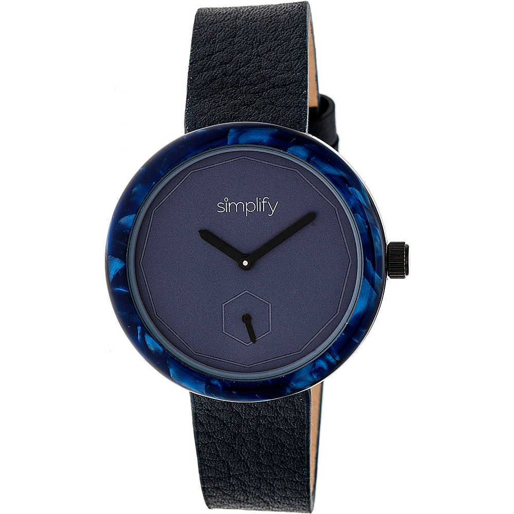 Simplify The 3700 Unisex Watch Black Blue Navy Simplify Watches