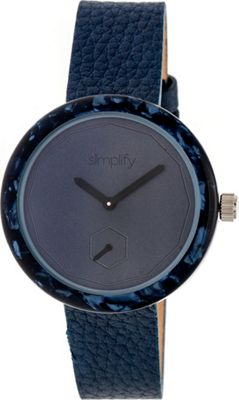 Simplify The 3700 Unisex Watch Navy/Navy/Blue - Simplify Watches