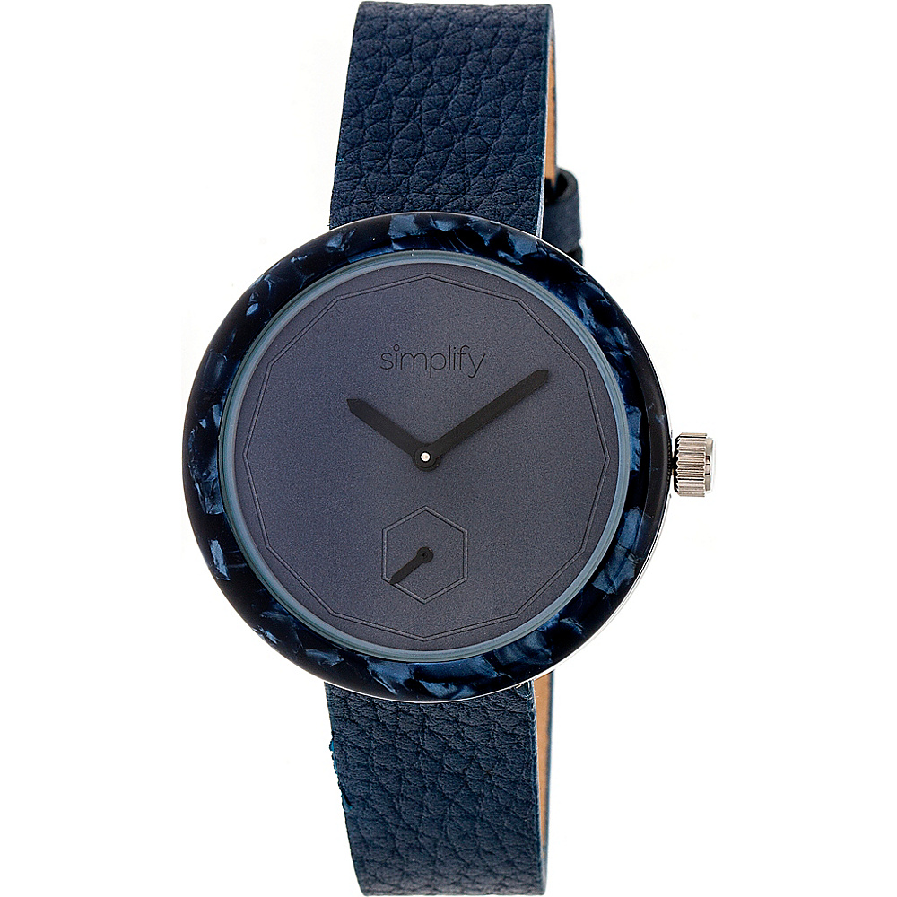 Simplify The 3700 Unisex Watch Navy Navy Blue Simplify Watches