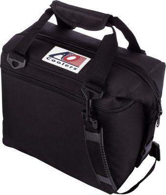 AO Coolers 12 Pack Canvas Soft Cooler Black - AO Coolers Outdoor Coolers