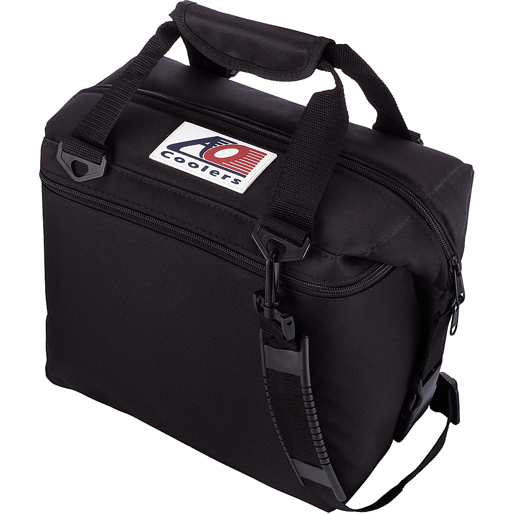 AO Coolers 12 Pack Canvas Soft Cooler Black AO Coolers Outdoor Coolers