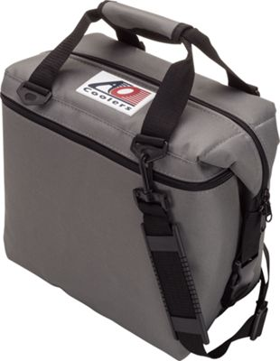 AO Coolers 12 Pack Canvas Soft Cooler Charcoal - AO Coolers Outdoor Coolers
