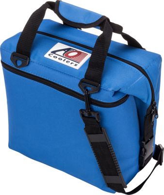 AO Coolers 12 Pack Canvas Soft Cooler Royal Blue - AO Coolers Outdoor Coolers