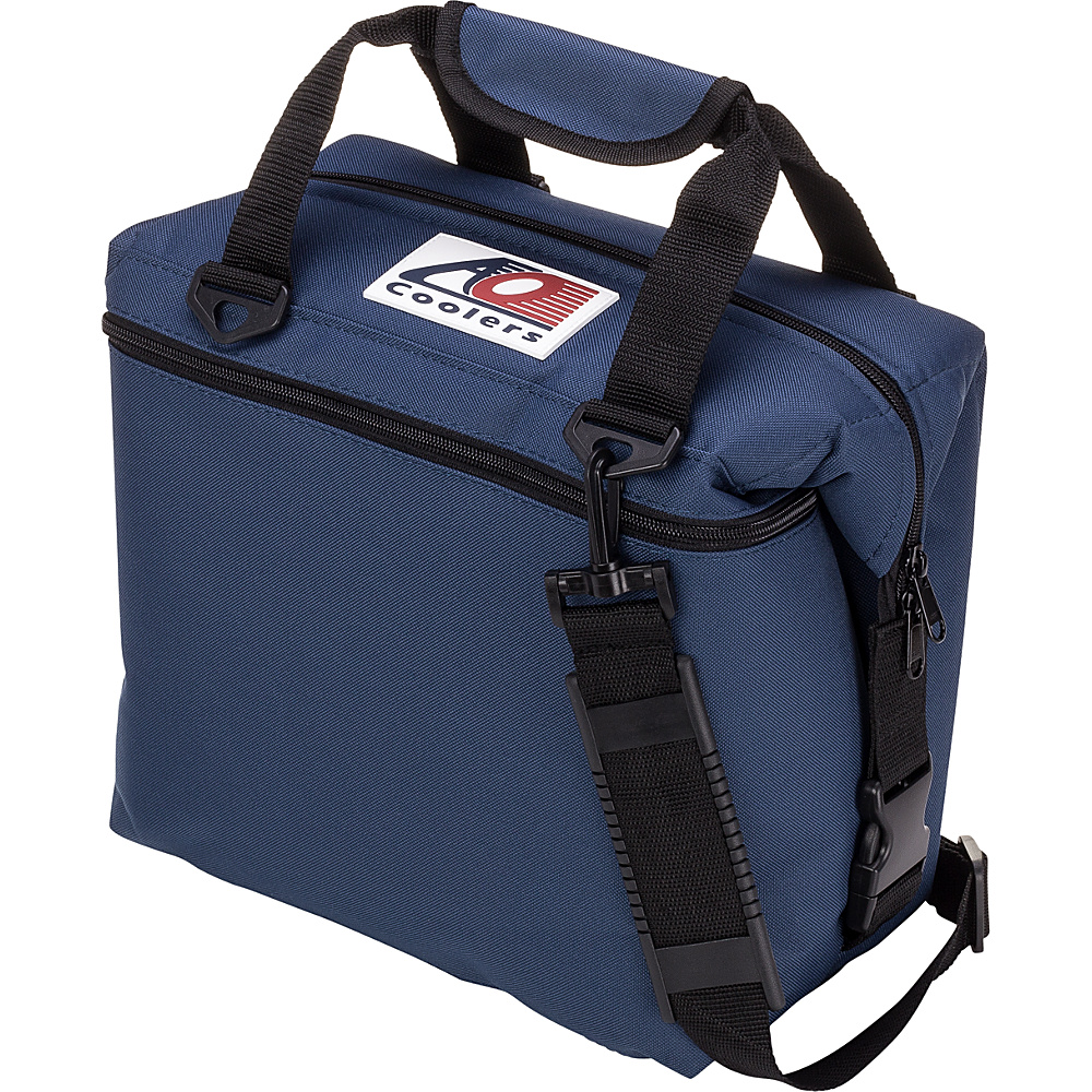 AO Coolers 12 Pack Canvas Soft Cooler Navy Blue AO Coolers Outdoor Coolers