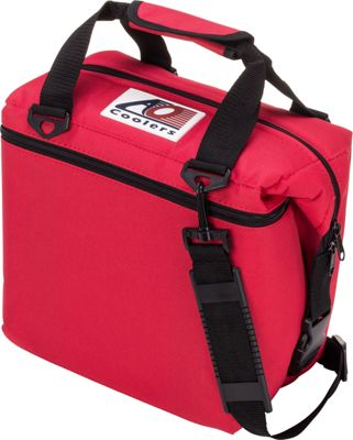 AO Coolers 12 Pack Canvas Soft Cooler Red - AO Coolers Outdoor Coolers